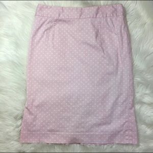 Lilly Pulitzer Pink & white polkadot skirt size 6